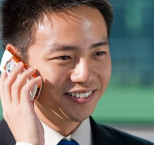 chinese on mobile phone
